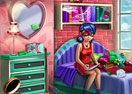 Dotted Girl Highschool Room